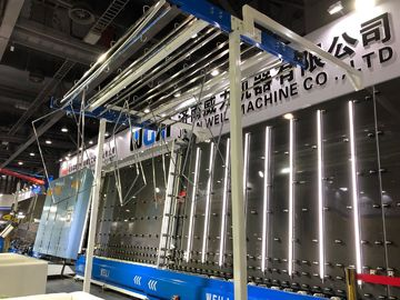 China CE / UL Window Double Glass Machine Vertical Flat Pressing Production Line factory